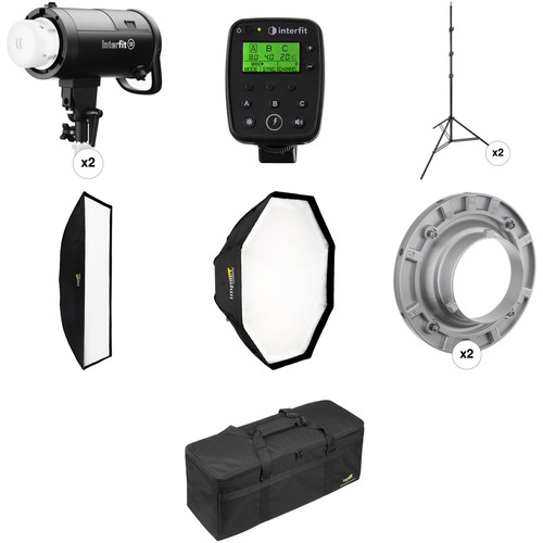 Interfit S1 AC/DC 500Ws HSS TTL Pro 2-Light Kit for Sony