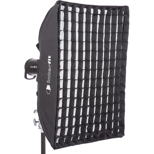 "Interfit Heat-Resistant Rectangular Softbox with Grid (24 x 36"")"