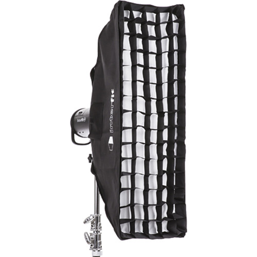 "Interfit Heat-Resistant Strip Softbox with Grid (12 x 36"")"