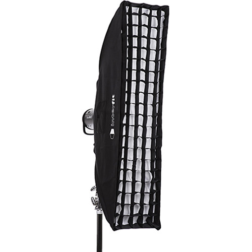 "Interfit Heat-Resistant Strip Softbox with Grid (12 x 48"")"