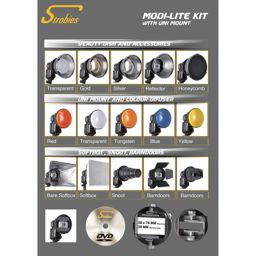 Interfit Strobies Modi-Lite Uni-Mount Flash Accessory System Kit