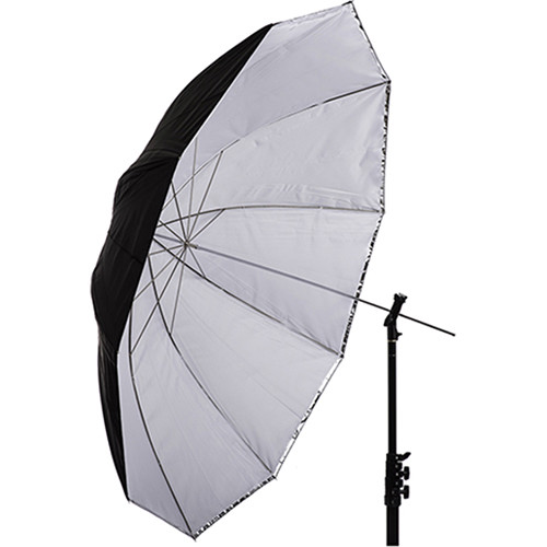 "Interfit Translucent White and Silver Convertible Umbrella (60"")"