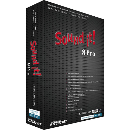 Internet Co. Sound it! 8 Pro Audio Editing and Mastering Suite with Sonnox Restoration Plug-Ins (Mac, Download)
