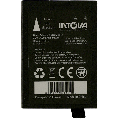Intova Spare Battery for X2/HD2/DUB2 Waterproof Cameras