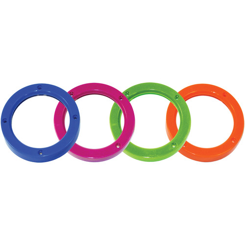 Intova Colored Lens Port Rings (Pink, Green, Blue, and Orange)