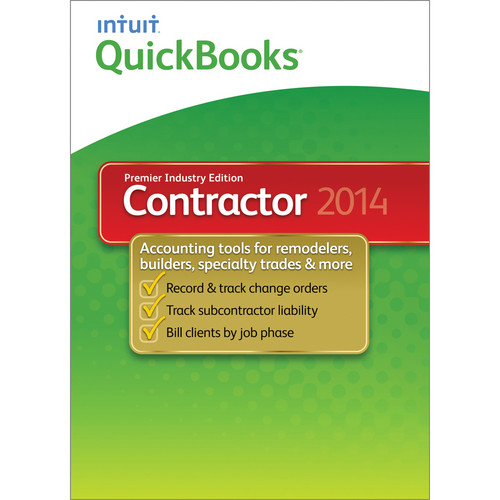 Intuit QuickBooks Premier Contractor for Windows 2014 (Electronic Download)