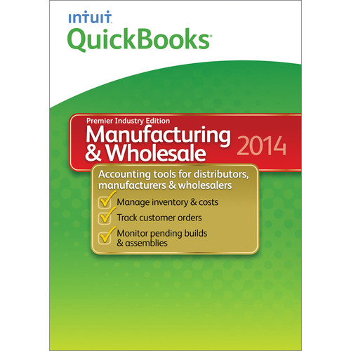Intuit QuickBooks Premier Manufacturing & Wholesale for Windows 2014 (Download)