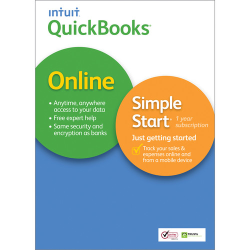 Intuit QuickBooks Online Simple Start for Mac 2014 (Web-Based, 1-Year Subscription)