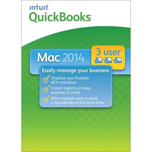 Intuit QuickBooks for Mac 2014 3-User License (Download)