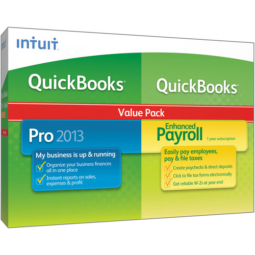 Intuit QuickBooks Pro 2013 and QuickBooks Enhanced Payroll Value Pack