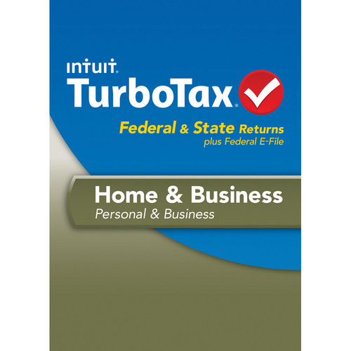 Intuit TurboTax Home and Business Federal, E-File and State 2013 for Mac (Download)