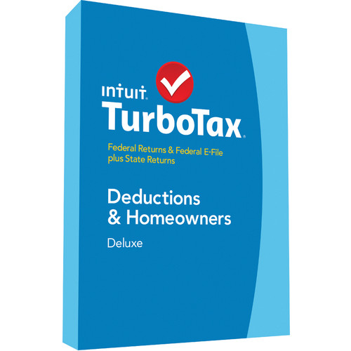 Intuit TurboTax Deluxe Federal E-File + State 2014 424481 B&H
