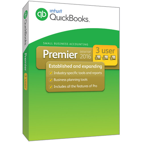 Intuit QuickBooks Premier 2016 (3-Users, Download)