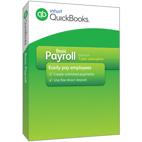 Intuit QuickBooks Basic Payroll 2016 (Download, 1-Year Subscription)