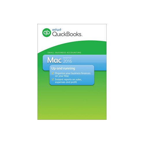Intuit QuickBooks 2016 for Mac (1-New User, Boxed)