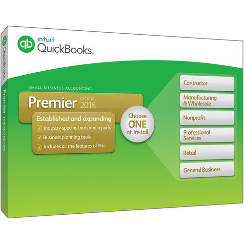 Intuit QuickBooks Premier 2016 (4-Users, Download)