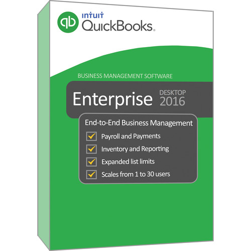 Intuit QuickBooks 2016 Enterprise Solution Gold (Download, 1-Year Subscription, 30-Users)