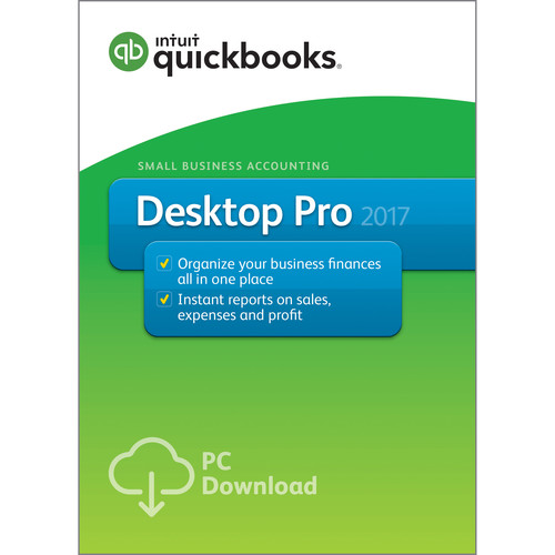 Intuit QuickBooks Pro 2017 (1-User, Download)