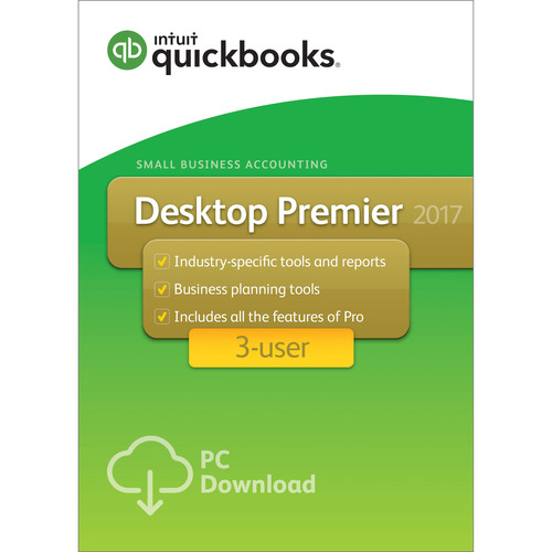 Intuit QuickBooks Premier 2017 (3-Users, Download)