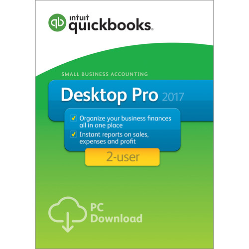 Intuit QuickBooks Pro 2017 (2-Users, Download)