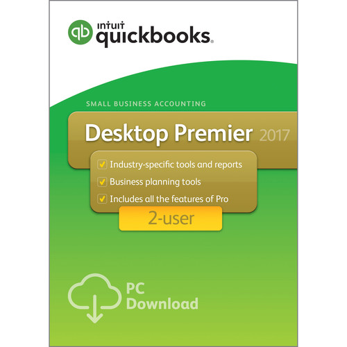 Intuit QuickBooks Premier 2017 (2-Users, Download)