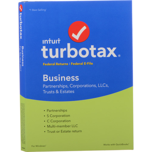 Intuit TurboTax Business 2017 (Boxed) 605006 B&H Photo Video