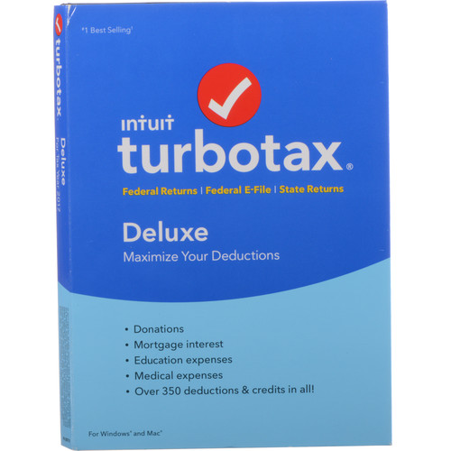 Intuit TurboTax Deluxe + State 2017 (Boxed)