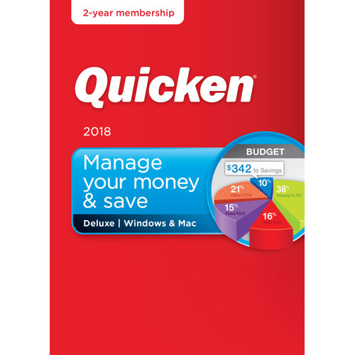 Intuit Quicken Deluxe 2018 (Download, 2-Year Subscription)