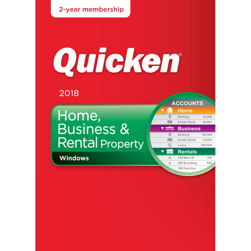 Intuit Quicken Home, Business, & Rental Property 2018 (Download, 2-Year Subscription)