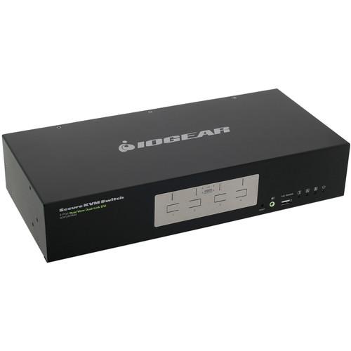 IOGEAR 4-Port Dual View Dual-Link DVI Secure KVM Switch (TAA)