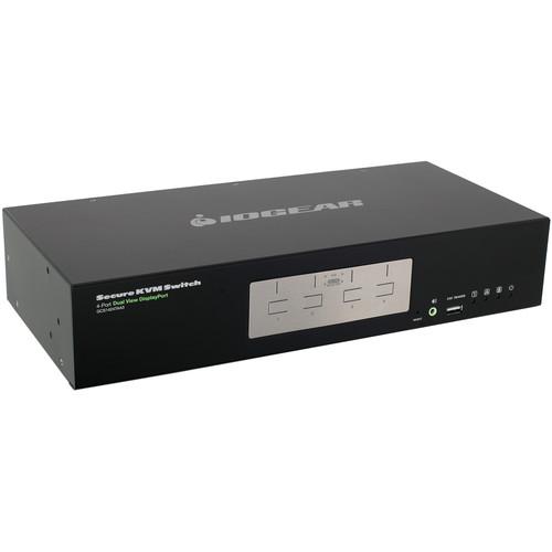 IOGEAR 4-Port Dual View DisplayPort Secure KVM Switch (TAA)