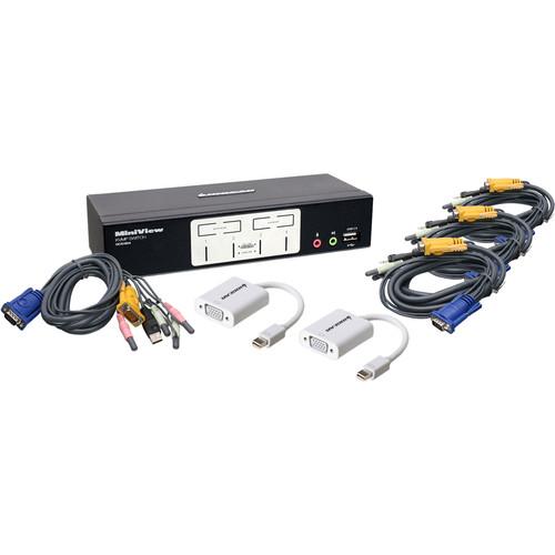 IOGEAR Miniview KVM Switch Kit with Mini DisplayPort Adapters