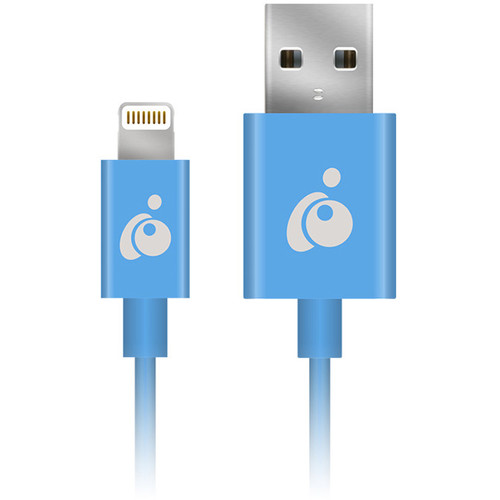 IOGEAR Charge & Sync Flip Reversible USB to Lightning Cable (3.3', Blue)