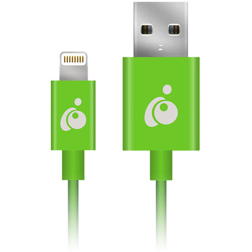 IOGEAR Charge & Sync Flip Reversible USB to Lightning Cable (3.3', Green)