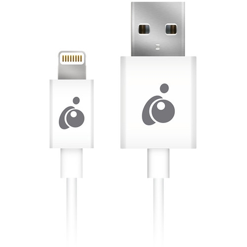 IOGEAR Charge & Sync Flip Reversible USB to Lightning Cable (3.3', White)