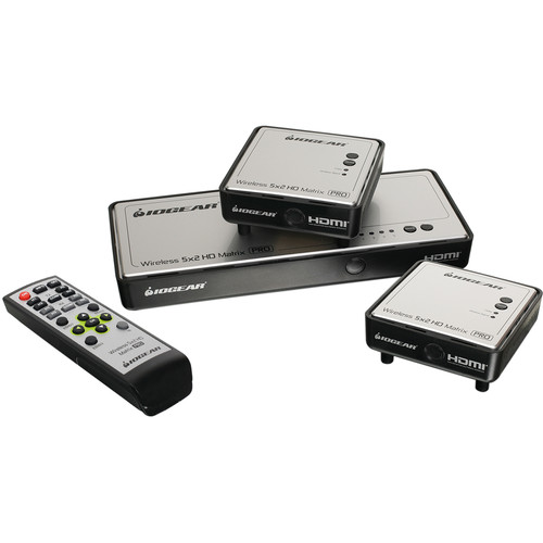 IOGEAR Wireless 5 x 2 HD Matrix Pro with One Additional Receiver