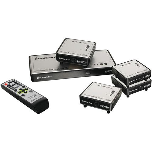 IOGEAR IOGEAR Wireless 5 x 2 HD Matrix Pro with Three Additional Receivers