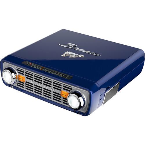 ION Audio Bronco LP Three-Speed Stereo Turntable & AM/FM Radio with USB (Navy)