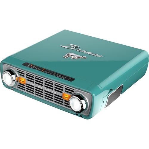 ION Audio Bronco LP Three-Speed Stereo Turntable & AM/FM Radio with USB (Teal)