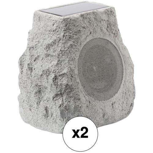 ION Audio Glow Stone Solar Wireless Outdoor Stone Speaker (Pair)