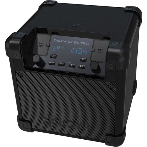 ION Audio Tailgater Express Compact Portable Bluetooth Speaker System (Black)