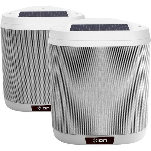 ION Audio Keystone Wireless Rechargeable Mountable Outdoor Speaker Pair