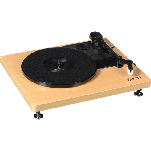 ION Audio iT68 Compact LP Turntable with USB (Woodgrain)