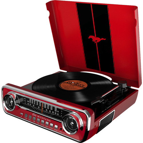 ION Audio Mustang LP Stereo Turntable (Red)