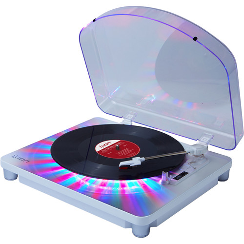 ION Audio Photon LP 3-Speed Turntable with Built-In Multi-Color Lighting