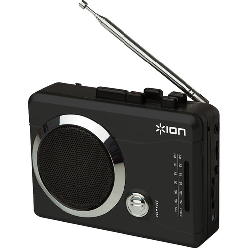 ION Audio Mixman Digital-to-Cassette Recorder with Radio (Black)