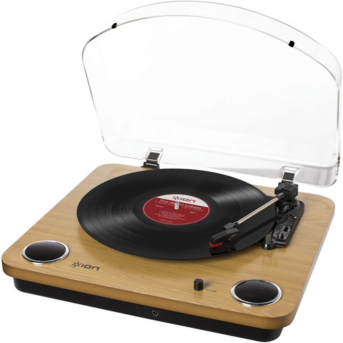 ION Audio Max LP Conversion Turntable With Stereo Speakers (Wood)