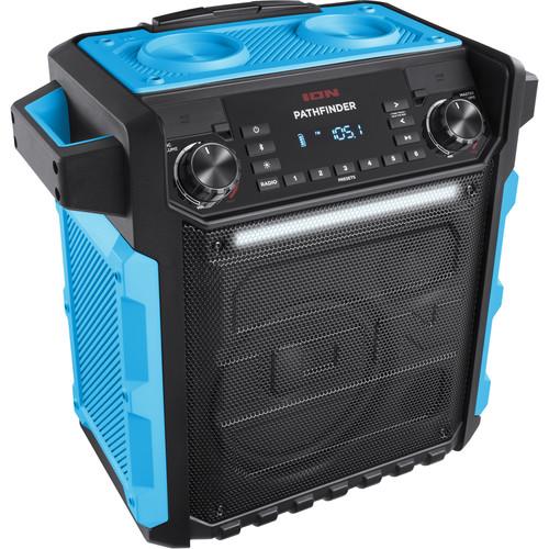 ION Audio Pathfinder Waterproof Rechargeable Speaker System (Blue)