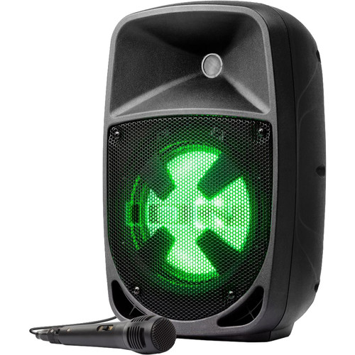 ION Audio Pro Glow 8 Compact High-Power PA System with LED Lighting