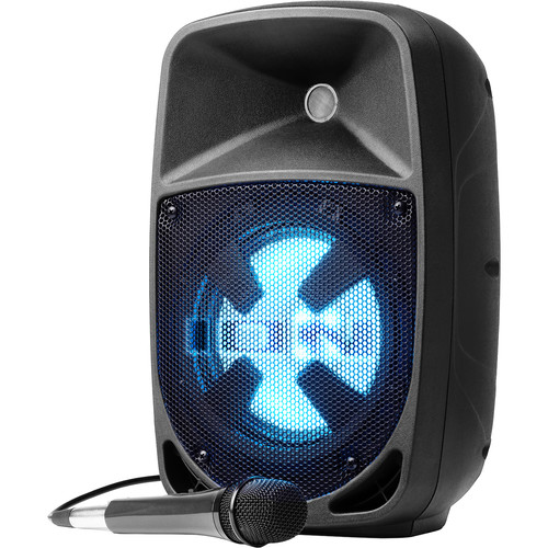 """ION Audio Pro Glow 8 Portable 8"""" 2-Way 150W All-In-One PA System with LED Lights"""